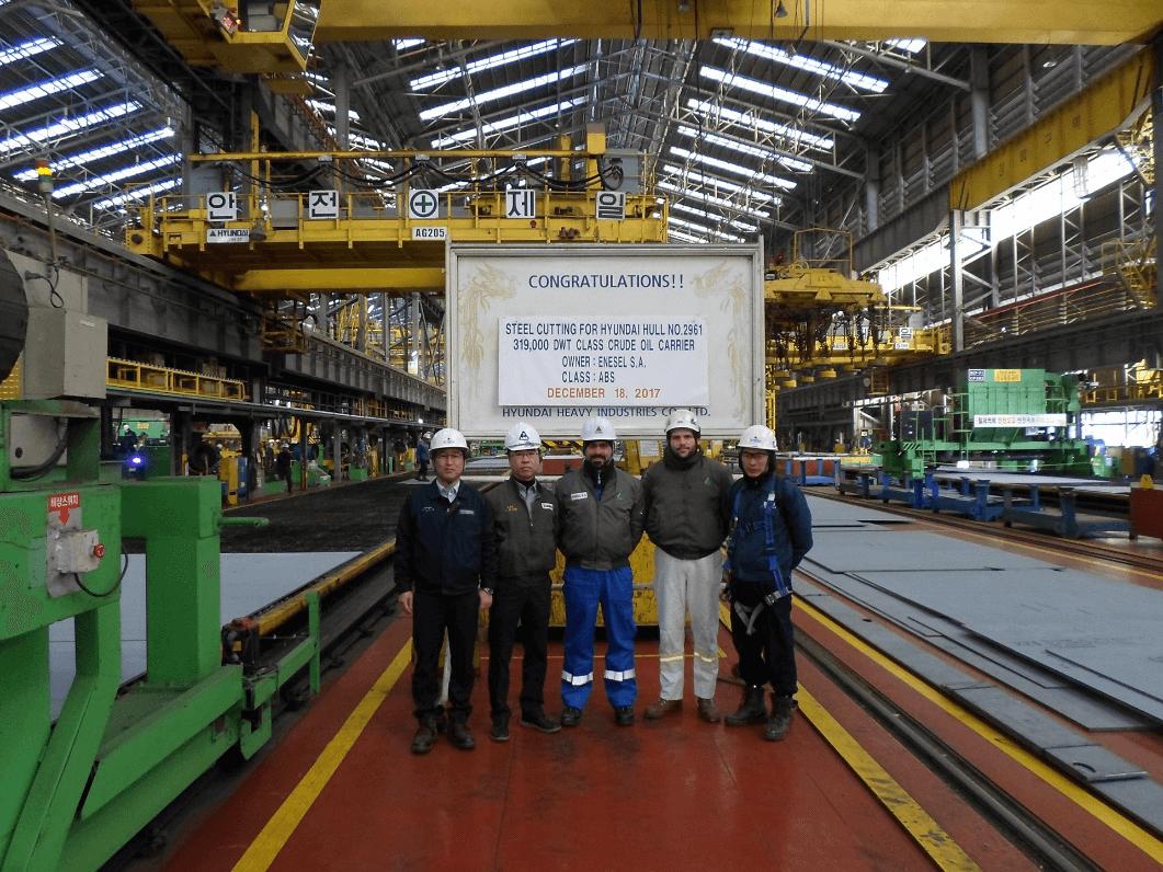 Steel-cutting of H.N. 2961