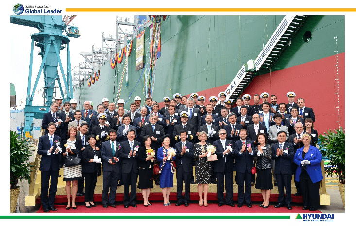 Naming ceremony of three container vessels